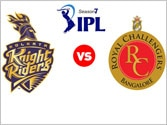 IPL 7, RR vs MI: Royal Challengers Bangalore vs Kolkata Knight Riders- Match 49