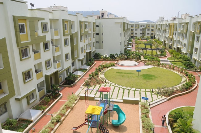 Newly built apartments of the Brigade group in Mysore