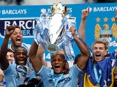 Manchester City paint Premier League blue with 2nd title in 3 years