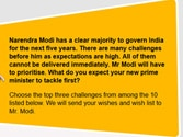 My Modi wishlist: What do you want your PM to do first?