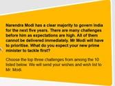 Modi's wishlist