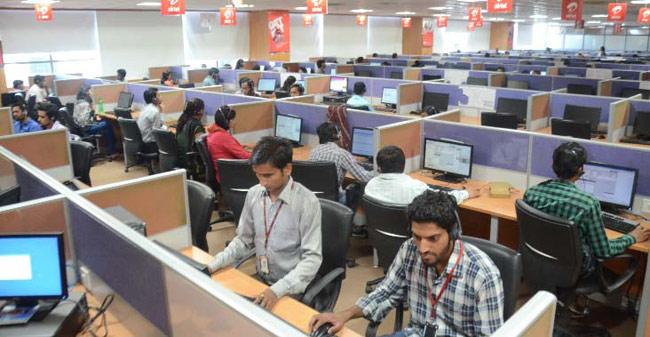 A call centre in Chhindwara