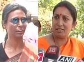 Priyanka Gandhi Vadra's secretary Preeti Sahay and BJP leader Smriti Irani