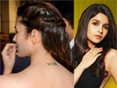 Alia Bhatt's Pataka tattoo secret revealed!