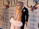 Rihanna picks up Fashion Icon Award in a see-through racy gown
