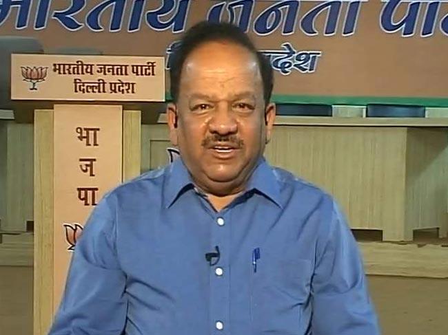 Health Minister Harsh Vardhan