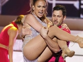 Jennifer Lopez flirts and gets cosy with Maksim Chmerkovskiy