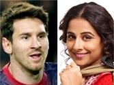 Vidya Balan loves watching Messi play