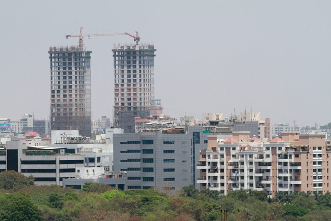 A project under construction in Kalyani Nagar