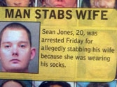 Man stabs wife for wearing his socks