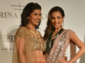 Malaika, Nimrat Kaur walk for Rina Dhaka at India Couture Week