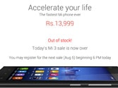 Xiaomi Mi 3 sold out on Flipkart in second round of sales within 2 mins