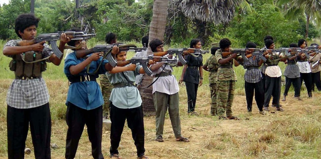Sri Lankan Tamil Tiger rebels in Vanni in 2006