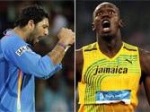 Cricket face-off! Sprint king Usain Bolt challenges Yuvraj Singh