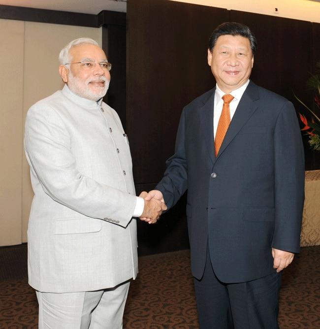Modi with Chinese President Xi Jinping