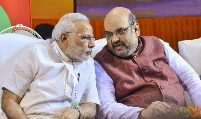 Narendra Modi with Amit Shah