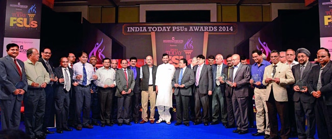 Representatives of the award-winning PSUs
