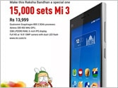 Xiaomi to offer 15,000 Mi 3s for sale on Flipkart on August 5