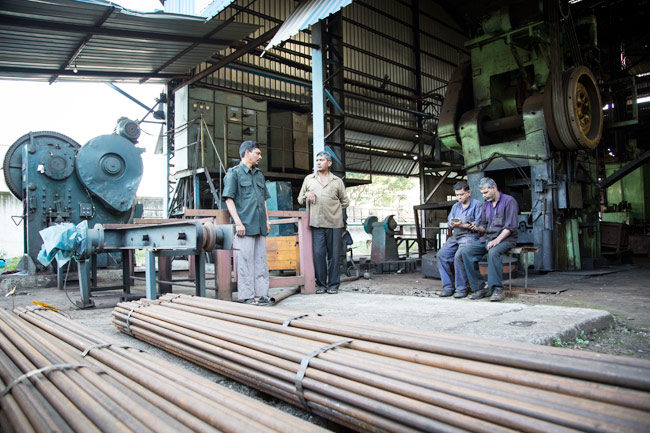 Workers at Walia Agni Industries