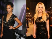 Zoe Saldana pregnant with twins, Britney Spears reveals accidentally