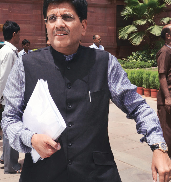 Piyush Goyal, Union power and coal minister.