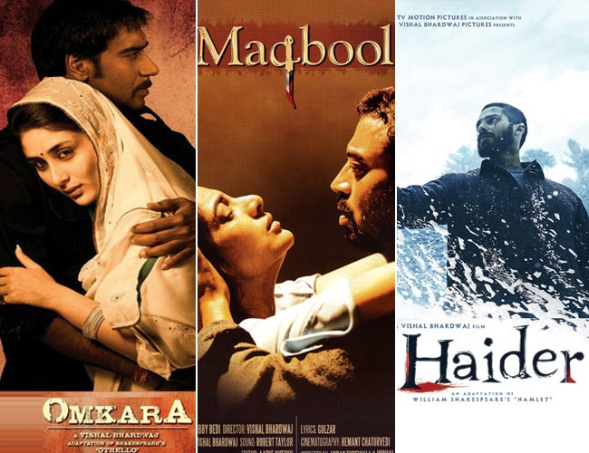 Image result for Maqbool, Omkara, and Haider.