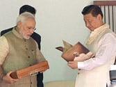 Modi gifts copy of Gita in Chinese to Xi at Sabarmati Ashram
