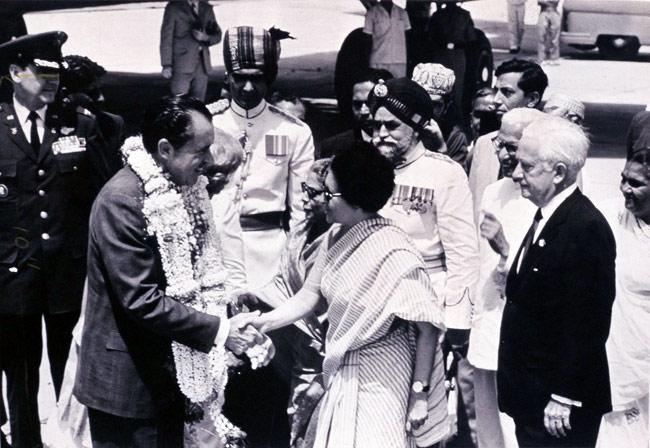 Indira Gandhi with Richard Nixon