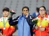 India's discus thrower Seema Punia clinches Asiad gold