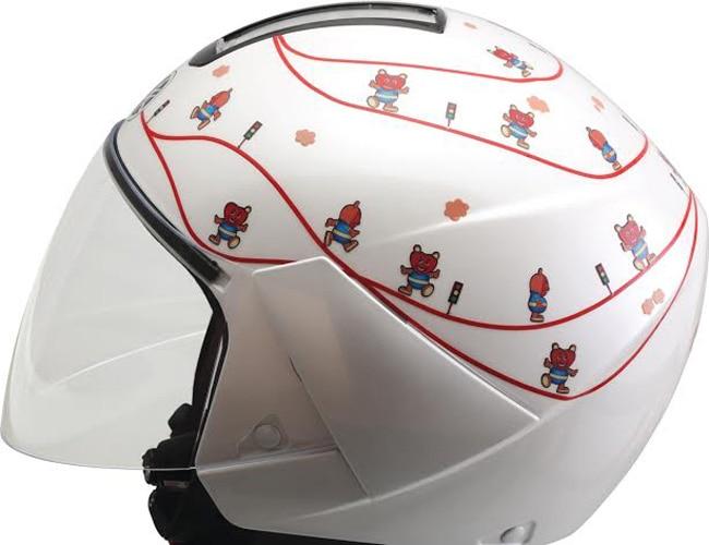 Yamaha White knight kids helmet