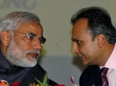PM Narendra Modi with Anil Ambani