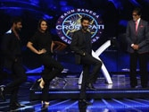 Big B shoots KBC grand finale with Action Jackson team