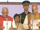 Manohar Lal Khattar swearing-in sees Modi walk down memory lane