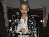 Rita Ora showcases her risque attire