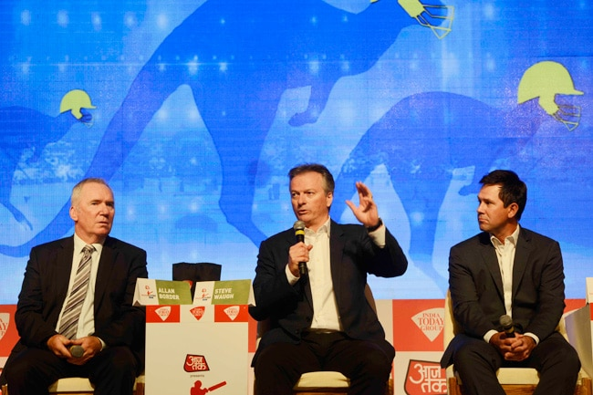 (From left to right) Allan Border, Steve Waugh and Ricky Ponting