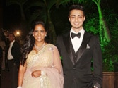 Arpita & Ayush's wedding reception a star studded event
