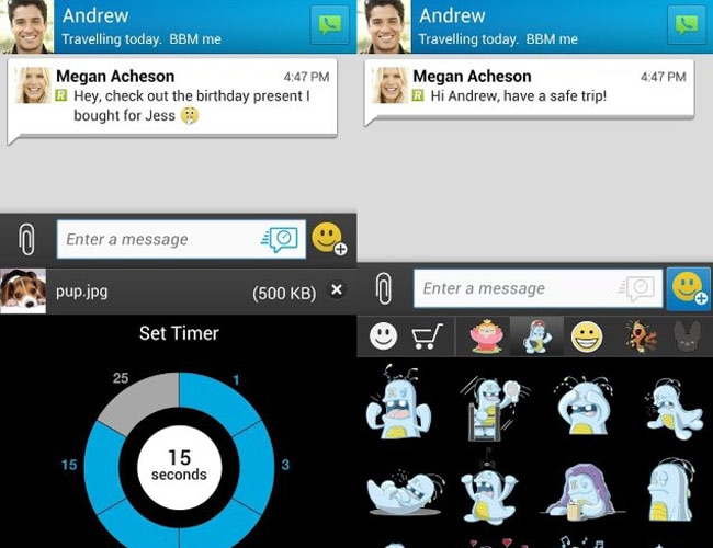 BlackBerry adds Snapchat-like timer feature to BBM - Technology News