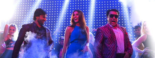 Saif, Ileana and Govinda in a still from Happy Ending