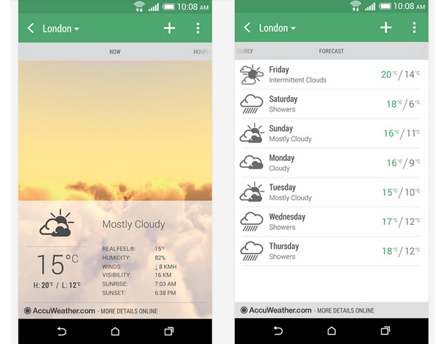 HTC Weather app released on Play Store - Technology News
