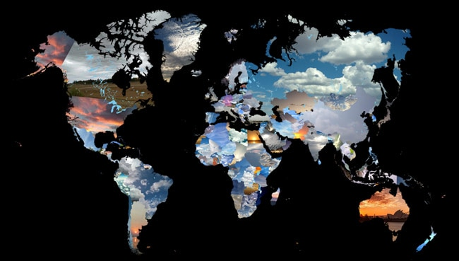 NASA Shows Satellite Images Of Earths Sanctuaries In Book - Today satellite image of world