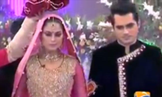 Veena Malik Khan and her businessman husband Asad Bashir Khan