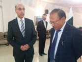 Abdul Basit with Ajit Doval