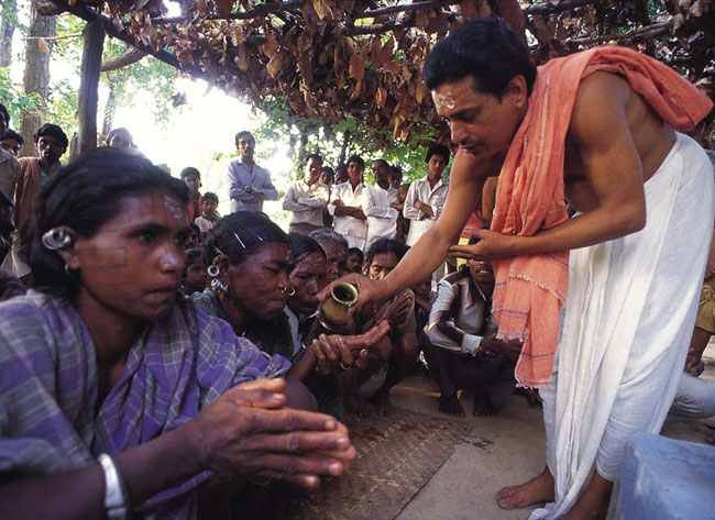 A file picture of Vishva Hindu Parishad activists performing conversion ceremonies