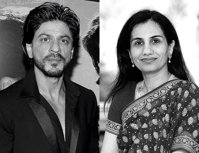 Shah Rukh Khan and Chanda Kochhar