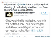 Social media impact: Twitter suspends Hafiz Saeed's account after Rahul Kanwal blows the whistle