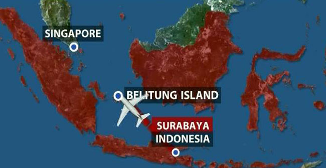 Airasia Flight Crashes In Java Sea Reports World News