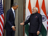 US President Barack Obama with PM Narendra Modi