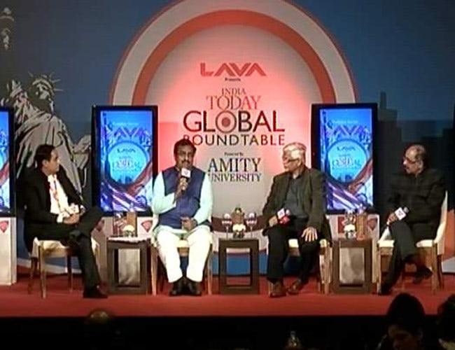 Ram Madhav, Sanjaya Baru and Robinder Sachdeva