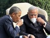 Barack Obama (left) and Narendra Modi