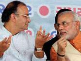 Arun Jaitley with Narendra Modi